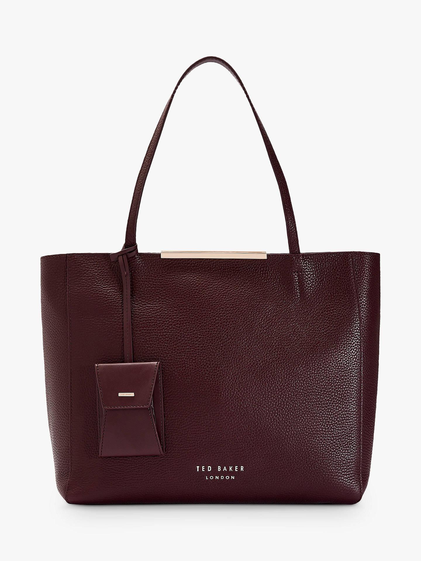 Ted Baker Dixiie Leather Bar Detail Shopper Bag, Bordeaux by Ted Baker