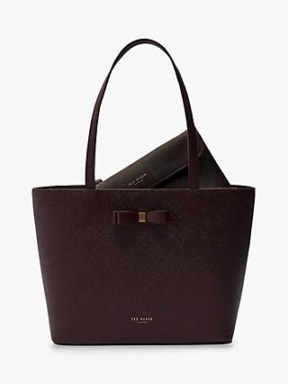 Ted Baker Jessica Bow Leather Shopper Bag