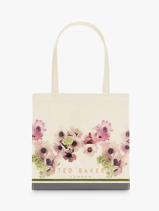 Ted Baker Keercon Neopolitan Small Shopper Bag, Ivory