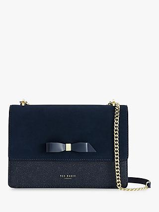 Ted Baker Olisssa Leather Cross Body Bag, Dark Blue