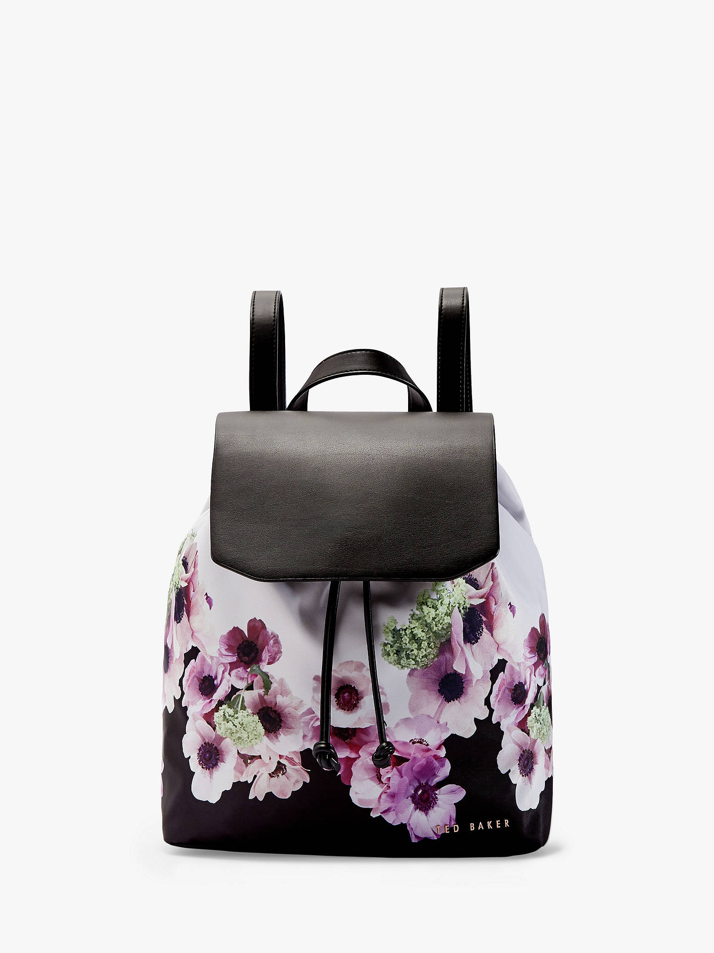 Ted Baker Ursulaa Drawstring Backpack, Black Floral by Ted Baker