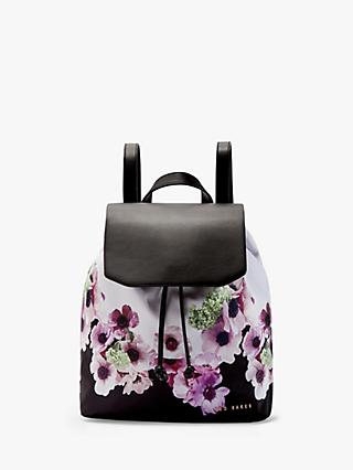 Ted Baker Ursulaa Drawstring Backpack, Black Floral