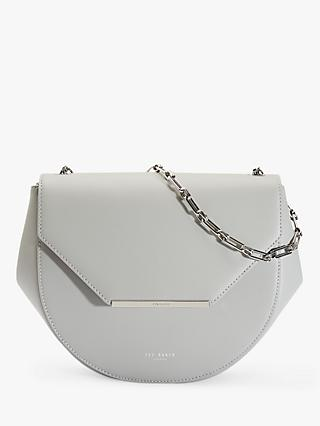 Ted Baker Freeya Leather Shouder Bag, Light Grey
