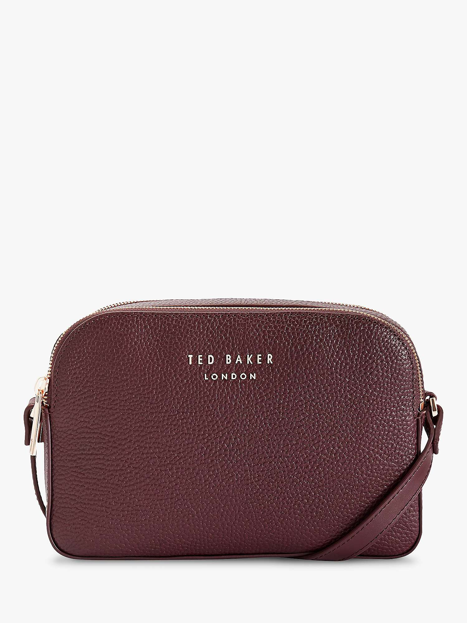 Ted Baker Daisi Leather Camera Bag, Red Bordeaux by John Lewis
