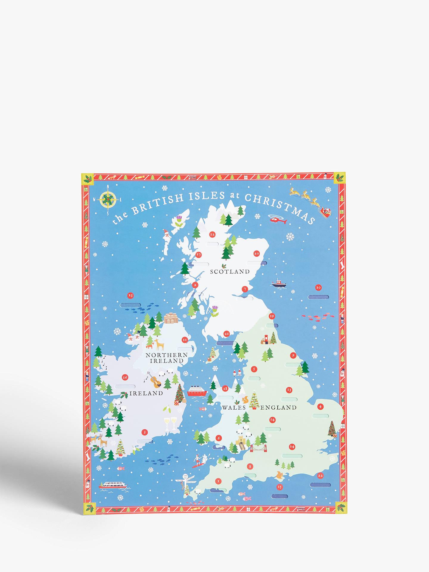 Christmas Advent Calendar.Woodmansterne The British Isles At Christmas Advent Calendar
