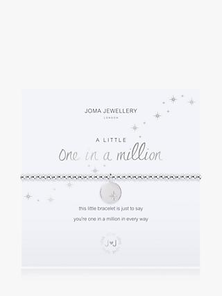 Joma Jewellery One In A Million Beaded Star Bracelet, Silver