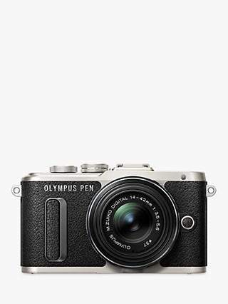 "Olympus PEN E-PL8 Compact System Camera with 14-42mm II R Lens, HD 1080p, 16.1MP, Wi-Fi, 3"" LCD Touch Screen"