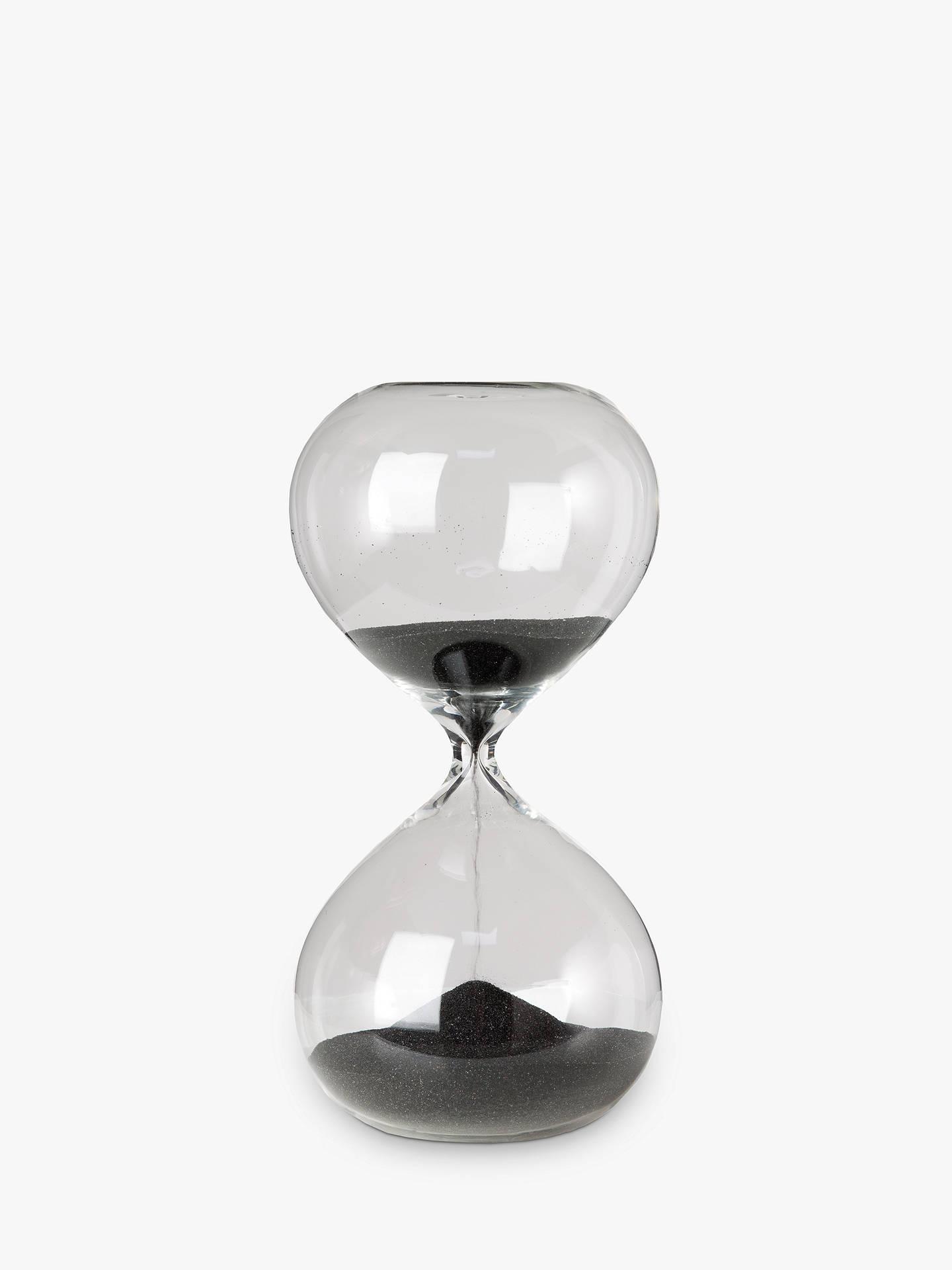 Pols Potten Hourglass Ball Sandglass, Mini, Black by Pols Potten