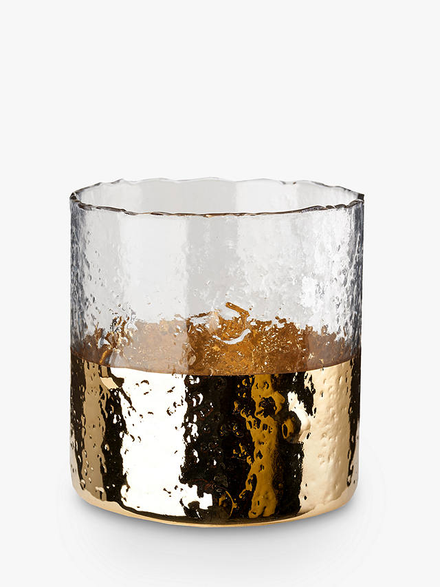 Buy pols potten Ripple Dip Hurricane Candle Holder, Gold Online at johnlewis.com