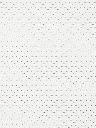 Oddies Textiles Embroidered Fabric, White