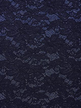 Oddies Textiles Sparkle Lace Fabric, Navy