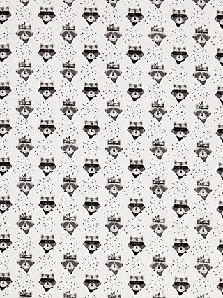 Domotex Raccoon In Mask Print Fabric, White/Black