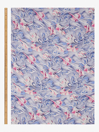 Buy John Kaldor Large Floral Print Fabric, Lilac Online at johnlewis.com