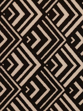 Montreux Fabrics Exclusive Monochrome Art Deco Triangles Print Fabric, Black/Mini