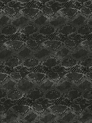 Quality Textiles Snake Print Fabric, Grey/Silver