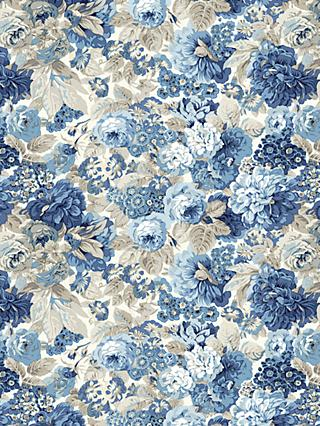 Sanderson Rose and Peony Print Fabric, Blue
