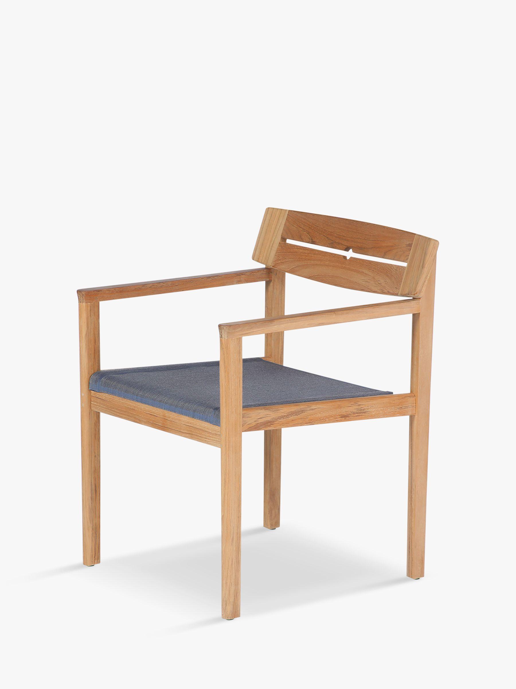 Barlow Tyrie Barlow Tyrie Atom Teak Wood Garden Dining Chair, Natural