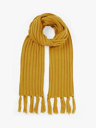 Unmade Brylie Tassel Scarf, Yellow