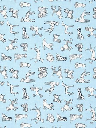 John Lewis & Partners Sketchy Dog Print Fabric, Blue