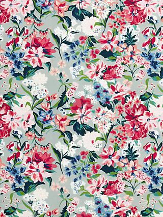 John Lewis & Partners Large Floral Print Fabric, Yellow/Multi