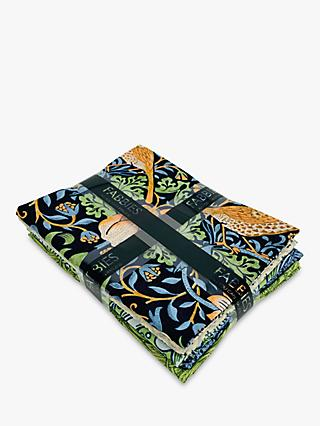 Morris & Co. Printed Fat Quarter Fabrics, Pack of 5, Blue/Multi
