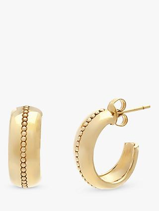 Leah Alexandra Roma Textured Hoop Earrings, Gold