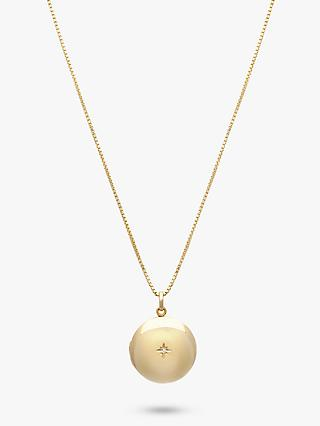 Leah Alexandra Solitaire Diamond Round Pendant Necklace, Gold