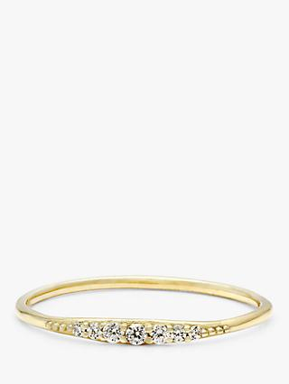 Leah Alexandra Era Cubic Zirconia Stacking Ring, Gold