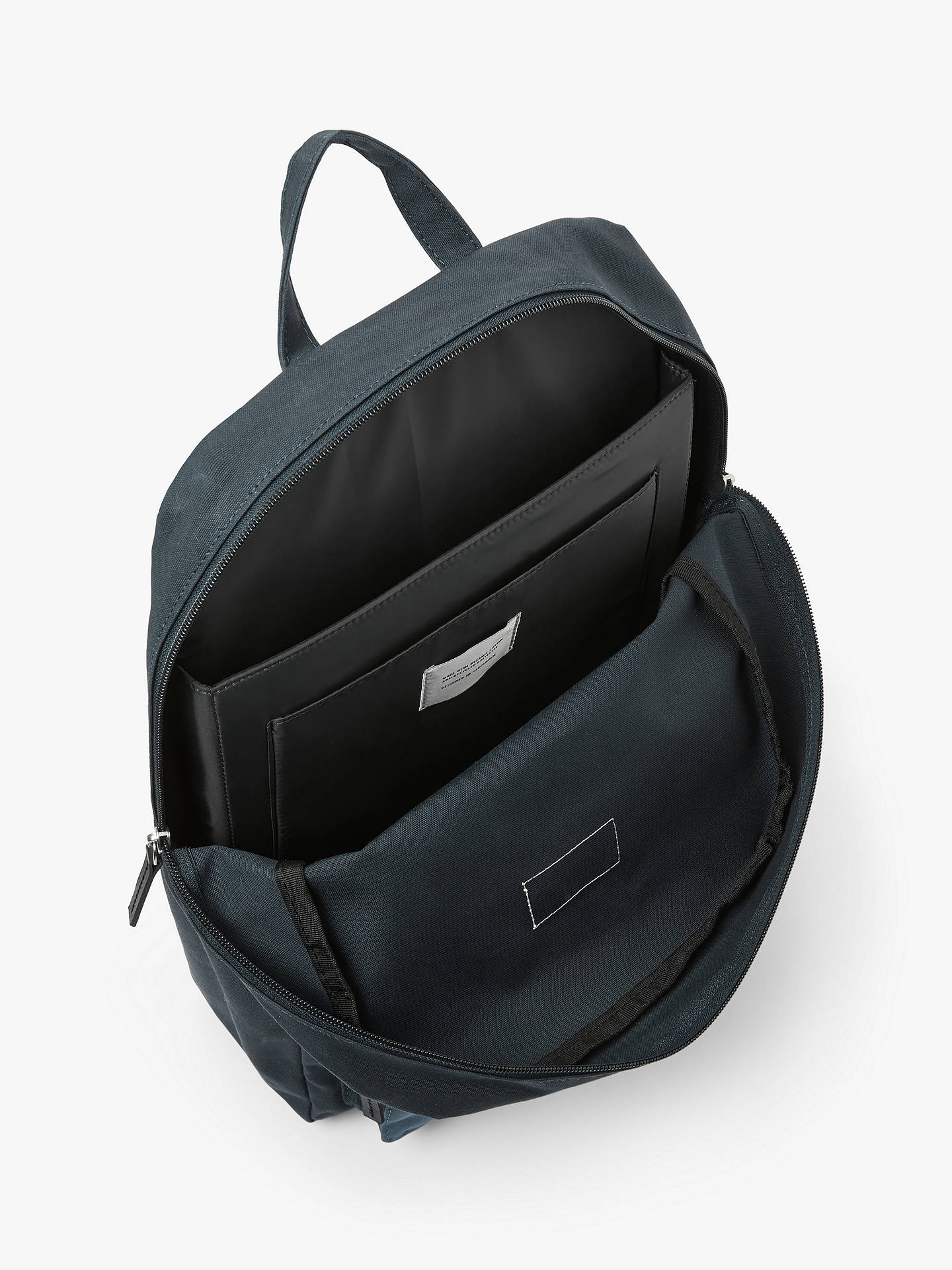 Buy Sandqvist Kim Ground Organic Cotton Backpack, Blue/Dusty Blue Online at johnlewis.com