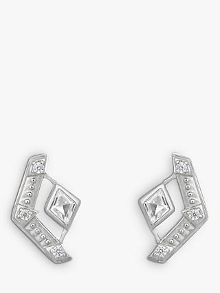 V by Laura Vann Esme Cubic Zirconia Geometric Stud Earrings