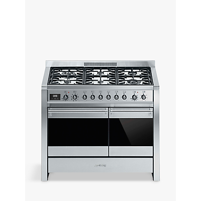 Image of Smeg A2-81 Dual Fuel Range Cooker, Stainless Steel