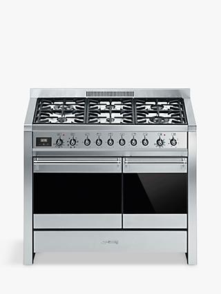 Smeg A2-81 Dual Fuel Range Cooker, Stainless Steel