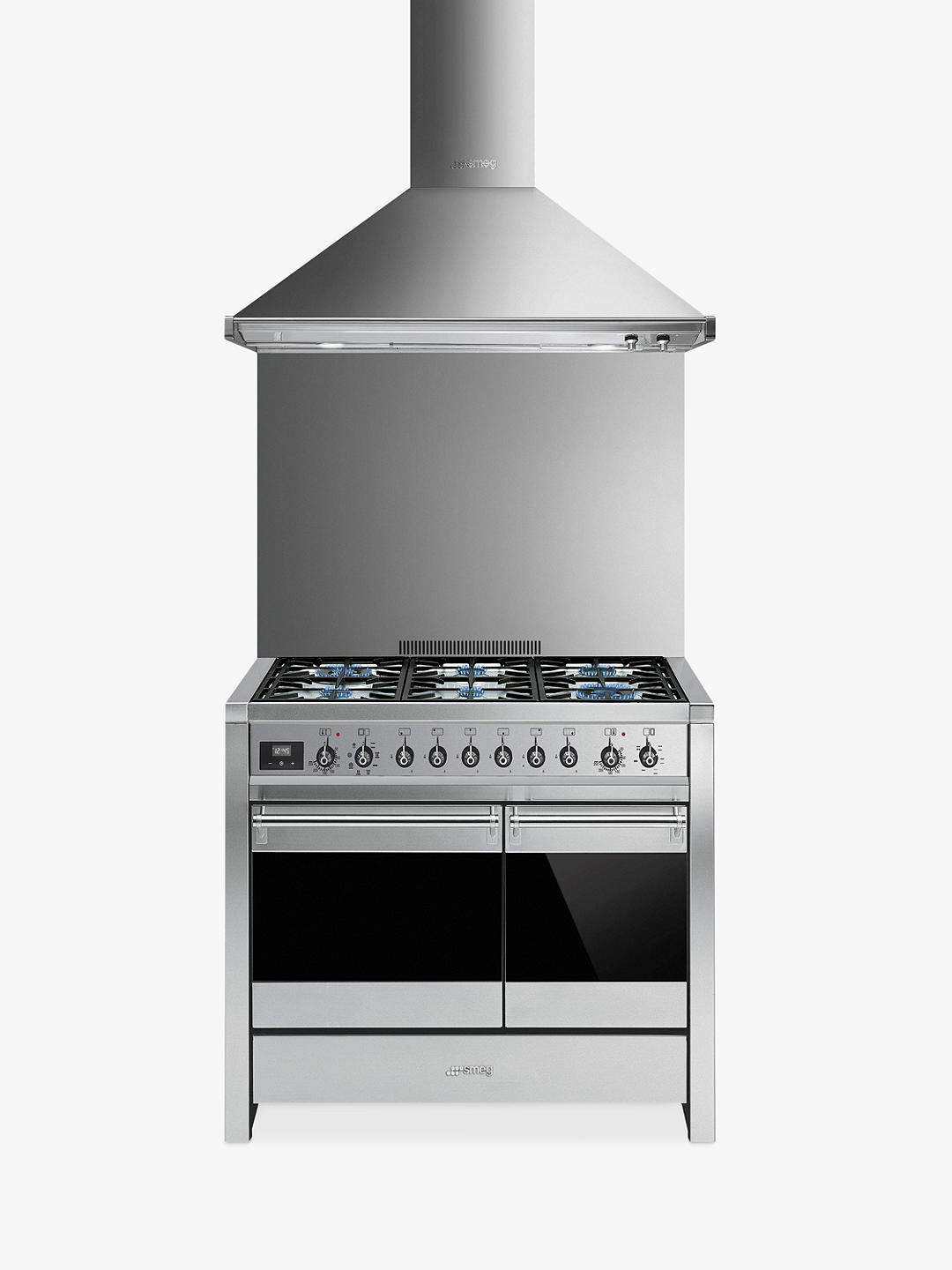 Buy Smeg A2-81 Dual Fuel Range Cooker, Stainless Steel Online at johnlewis.com