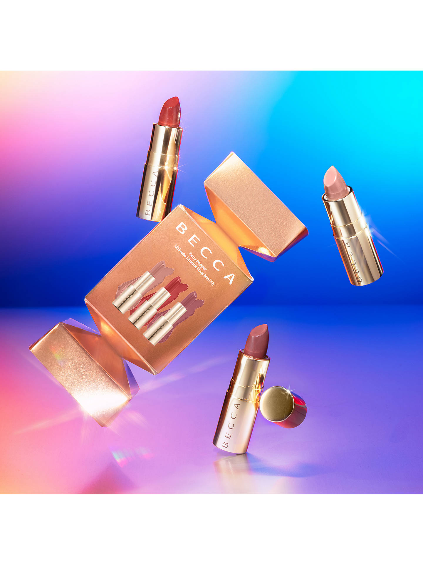Buy BECCA Party Popper Ultimate Lipstick Love Makeup Gift Set Online at johnlewis.com