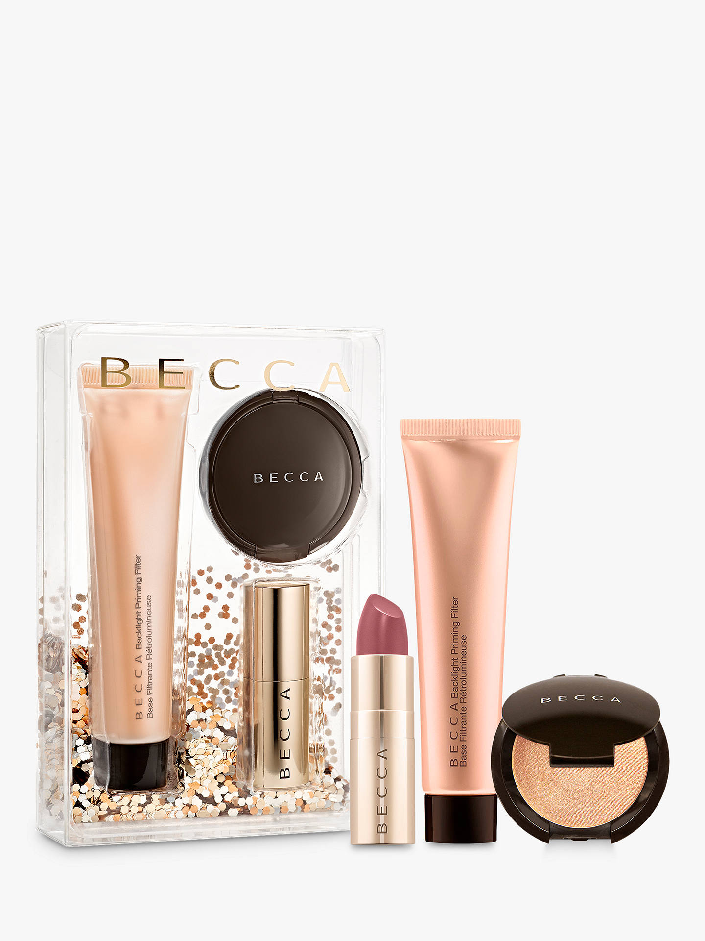 Becca Your Glow To Glow Primer, Highlighter & Lip Makeup Gift Set by Becca