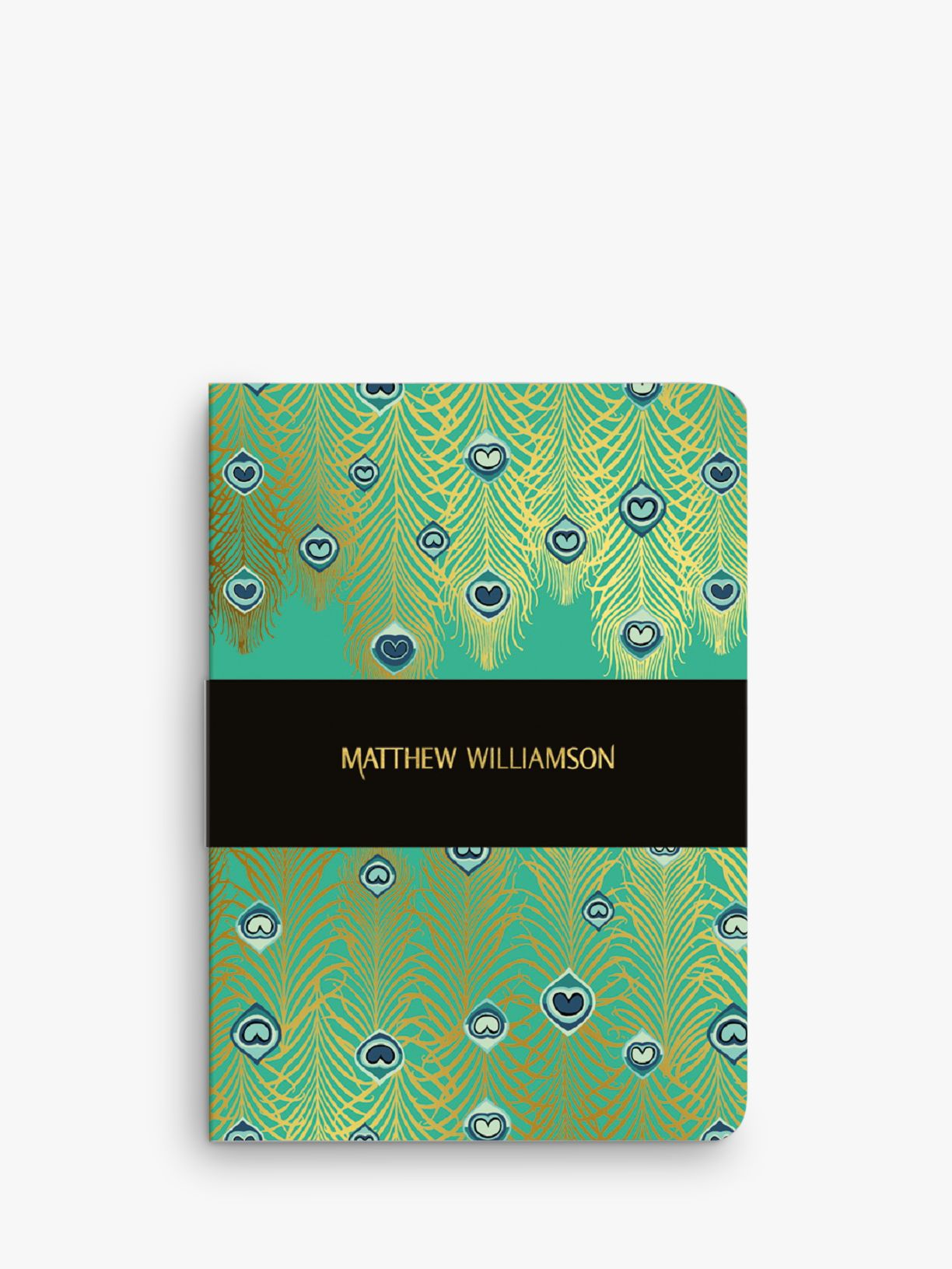 Museums & Galleries Matthew Williamson A5 Jade Peacock Notebook