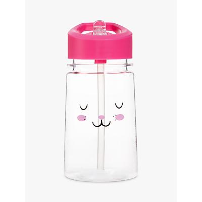 Aladdin Flip & Sip Rabbit Drinks Beaker, 350ml, Clear/Pink