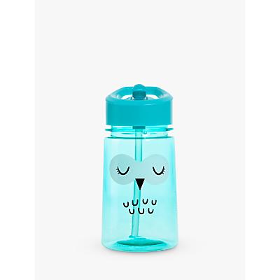 Aladdin Flip & Sip Owl Drinks Beaker, 350ml, Clear/Blue