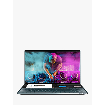 "Image of ASUS ZenBook Pro Duo UX581GV-H2004T Laptop with ScreenPad Plus, Intel Core i7, 16GB RAM, NVIDIA GeForce RTX 2060, 512GB SSD, 15.6"" OLED 4K Touchscreen, Celestial Blue"