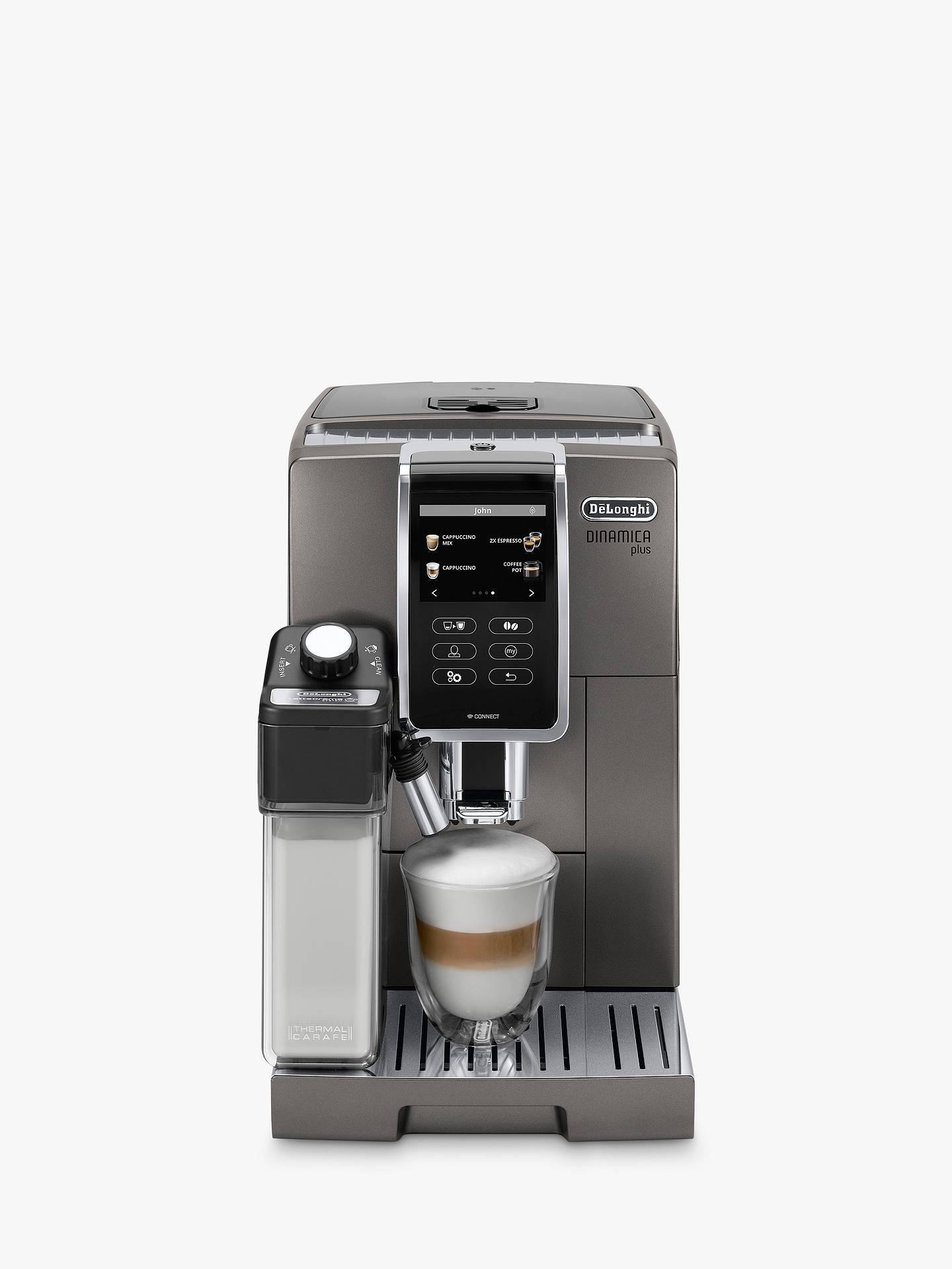 Delonghi Ecam37095t Dinamica Plus Bean To Cup Coffee Machine Silver