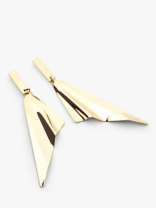 John Lewis & Partners Wing Drop Statement Earrings, Gold