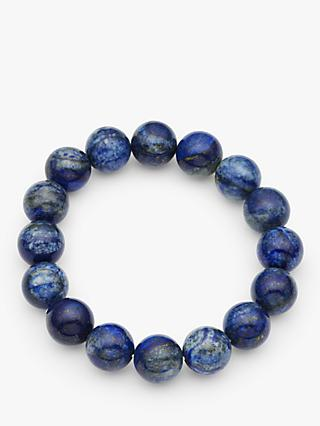 John Lewis & Partners Round Agate Stretch Bracelet