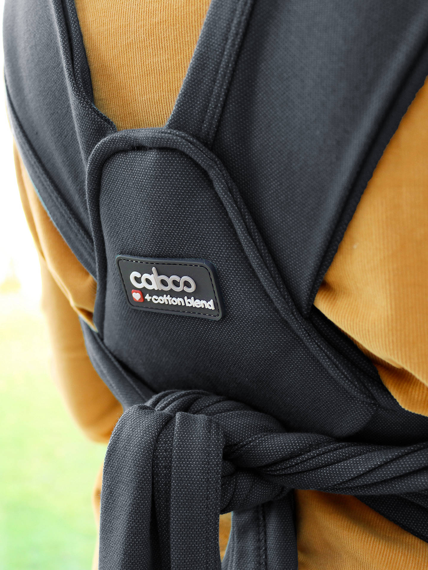Buy Close Caboo + Cotton Blend Baby Carrier, Phantom Grey Online at johnlewis.com