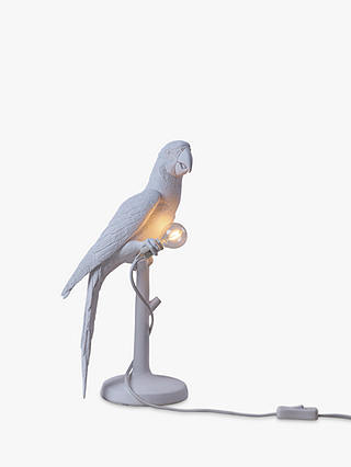 Buy Seletti Polly Parrot LED Table Lamp, White Online at johnlewis.com