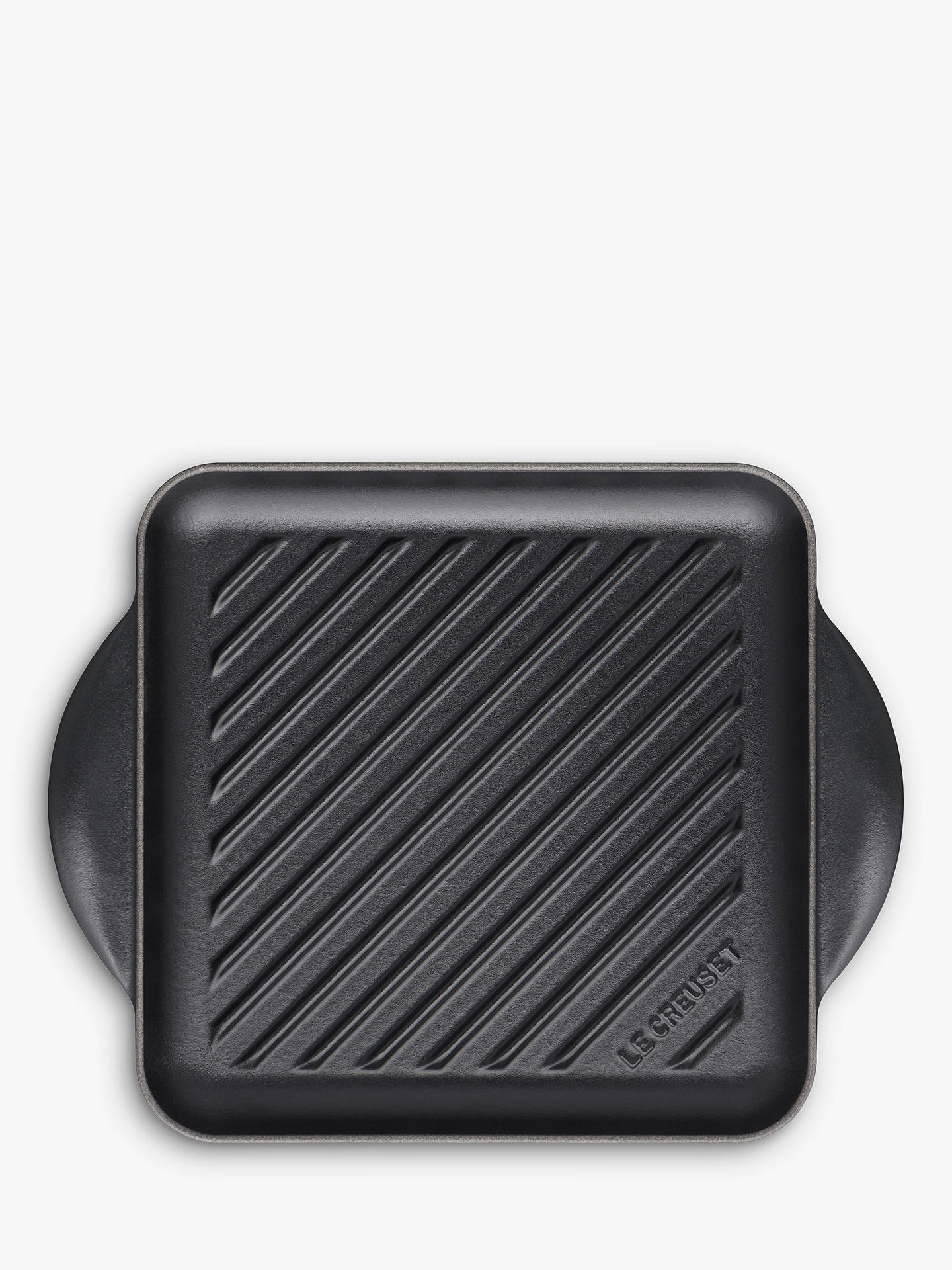 Le Creuset Essentials Cast Iron 24cm Skinny Square Grill, Satin Black by Le Creuset