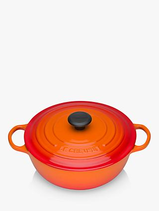 Le Creuset Essentials Cast Iron Round Casserole Soup Pot, 26cm
