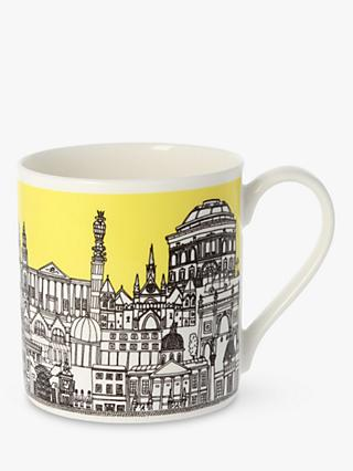 EAST END PRINTS Quite Big London Mug, 350ml, Pale Yellow