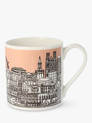 EAST END PRINTS Quite Big London Mug, 350ml, Pink