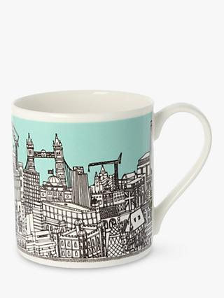 EAST END PRINTS Quite Big London Mug, 350ml, Mint
