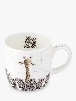 Wrendale Designs Giraffe & Zebra Head & Shoulder Mug, 310ml, White/Multi